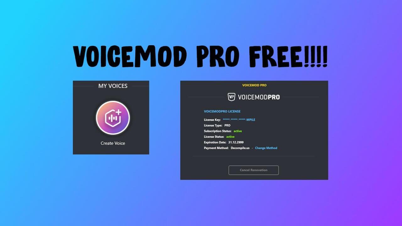 Voicemod Pro Keyegn