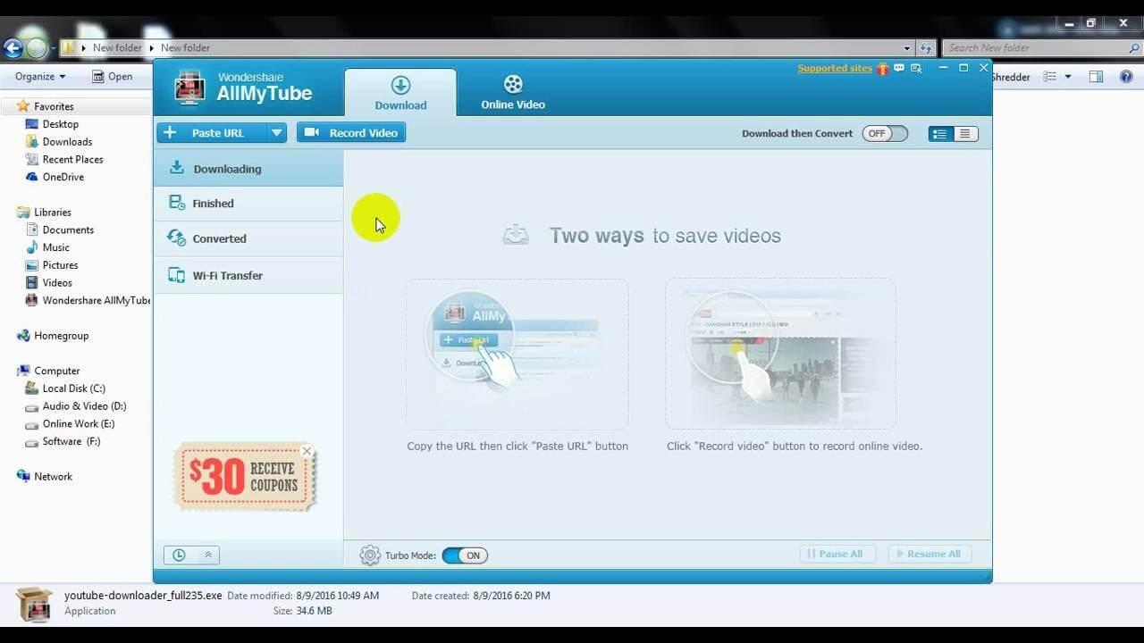 Wondershare AllMyTube Free Download