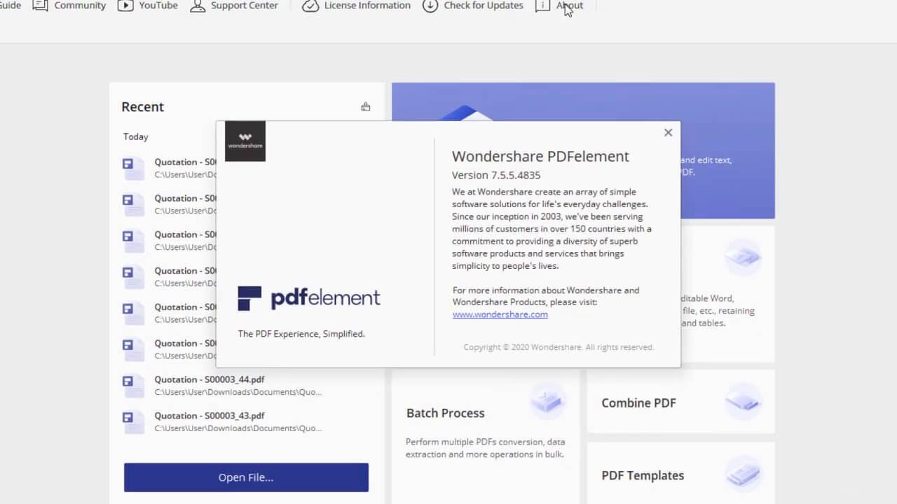 Wondershare PDFelement 6 Pro License Key